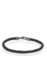 Mulberry Braided Leather Bracelet