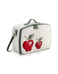 Pineider Red Apple Mini Travel Bag White
