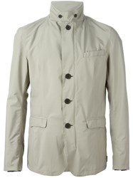 Herno Buttoned Jacket Nude And Neutrals