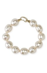 Women's Majorica 14Mm Baroque Pearl Single Row Bracelet White Gold