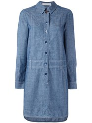 See By Chloe Chambray Shirt Dress Blue