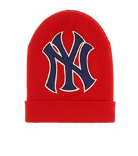 Gucci Ny Yankees Wool Beanie Red
