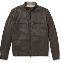Loro Piana Reversible Leather And Storm System Jacket Brown