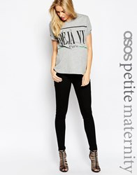 Asos Maternity Petite Ridley Skinny Jean In Clean Black With Under The Bump Waistband