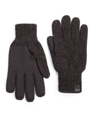 Bickley And Mitchell Melange Knit Gloves Black