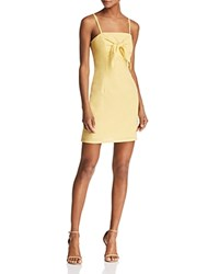 Re Named Betsy Tie Overlay Dress Yellow
