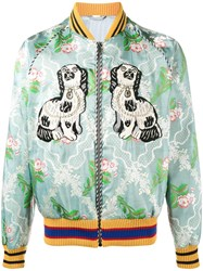 Gucci Floral Jacquard Embroidered Bomber