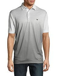 Callaway Ombre Pattern Short Sleeve Tee Bright White