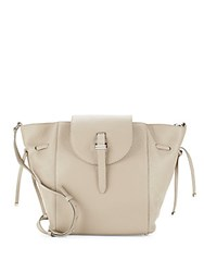 Meli Melo Fleming Leather Crossbody Bag Beige