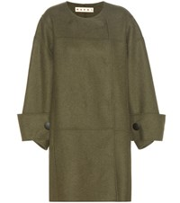 Marni Virgin Wool Blend Coat Green