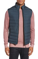 Ted Baker Men's London Jozeph Quilted Down Vest Teal Blue