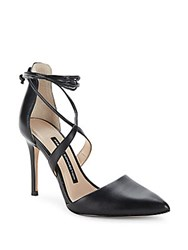 French Connection Elise Strappy Point Toe Pumps Black