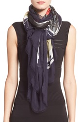 Yigal Azrouel 'Picture That' Modal And Cashmere Scarf Midnight Multi
