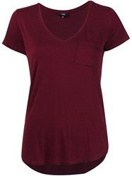 Paige Scoop Neck T Shirt Red