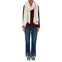 The Elder Statesman Women's Cashmere Blanket Scarf White