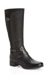 Dansko Women's Lorna Tall Boot Black Burnished Nappa Leather