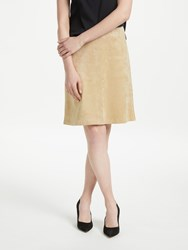 Marc Cain Faux Suede A Line Skirt Sisal