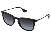 Ray Ban Rb4221 50Mm Black Rubberized Gray Gradient Fashion Sunglasses