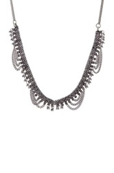 Stephan And Co Fringe Collar Necklace Metallic