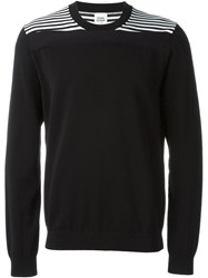 Opening Ceremony Striped Crew Neck Jumper Black