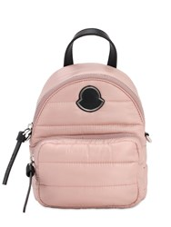Moncler Small Kilia Quilted Nylon Backpack Pink