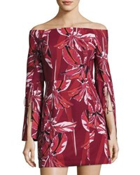 C Meo Collective Allure Long Sleeve Dress Red