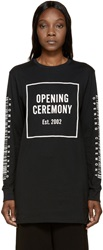 Opening Ceremony Black Overlong Barcode T Shirt