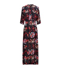 Kenzo Flower Print Maxi Dress Female Multi