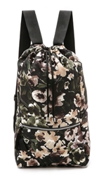 Msgm Floral Camouflage Backpack Multi