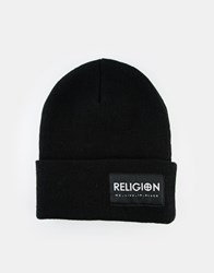 Religion Beanie Hat Black