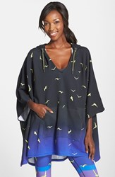 Women's Mara Hoffman Print Terry Hooded Poncho