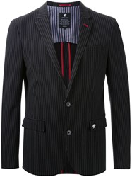 Loveless Striped Blazer Black
