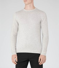 Reiss Andrew Mens Flecked Crew Neck Jumper In Grey