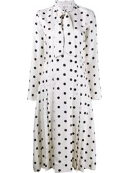Maryam Nassir Zadeh 'Ana' Tie Dot Dress Nude Neutrals