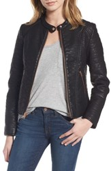 Marc New York Women's Andrew Blakely Faux Leather Jacket Black