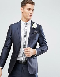 French Connection Skinny Suit Jacket In Tonic Navy