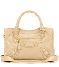 Balenciaga Giant 12 Mini City Leather Tote Beige