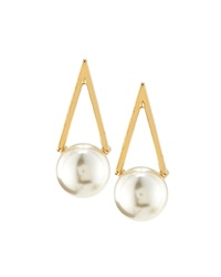 Rj Graziano R.J. Graziano Golden Pearly Stud Earrings Gold Pearl