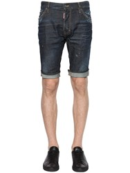 Dsquared Stretch Cotton Denim Shorts