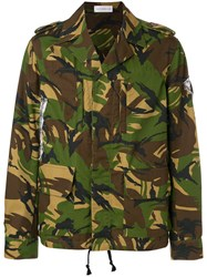 Faith Connexion Camouflage Jacket Green