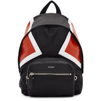 Neil Barrett Black And Red Contrast Detail Backpack