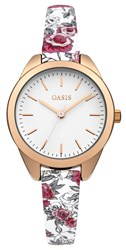 Oasis Ladies Printed Strap Watch Multi Coloured Multi Coloured