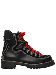 Dsquared 40Mm Canada Leather Hiking Boots