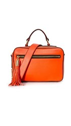 Milly Small Astor Satchel Bag Flame
