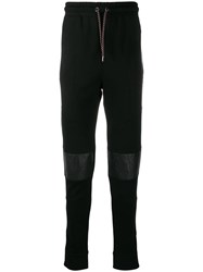 Les Hommes Knee Patch Track Trousers Black