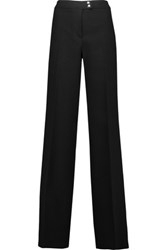 Giambattista Valli Crepe Wide Leg Pants Black