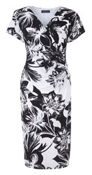 Grace Made In Britain Floral Dress Black