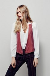 Free People Womens Velvet Vibes Vest