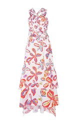 Peter Pilotto Printed Cotton Halter Dress White
