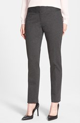 Petite Women's Vince Camuto Ponte Knit Ankle Pants Dark Heather Grey